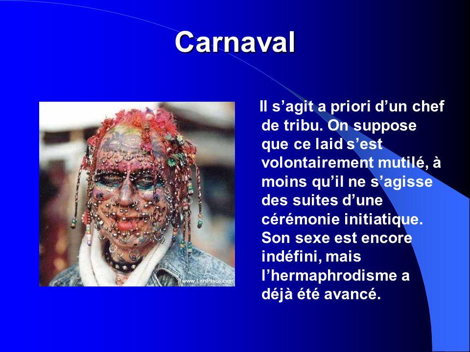 Carnaval Il sagit a priori dun chef de tribu.