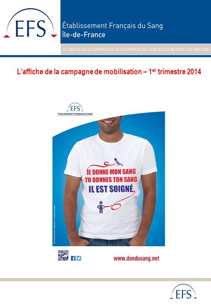 En 2013, de nombreux donneurs se sont mobilisés pour soutenir laction de lEtablissement Français du sang.
