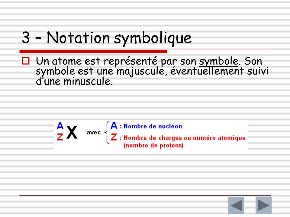 numéro atomiqueZ Le nombre de charge ou numéro atomique Z d un atome est le nombre de protons quil contient.