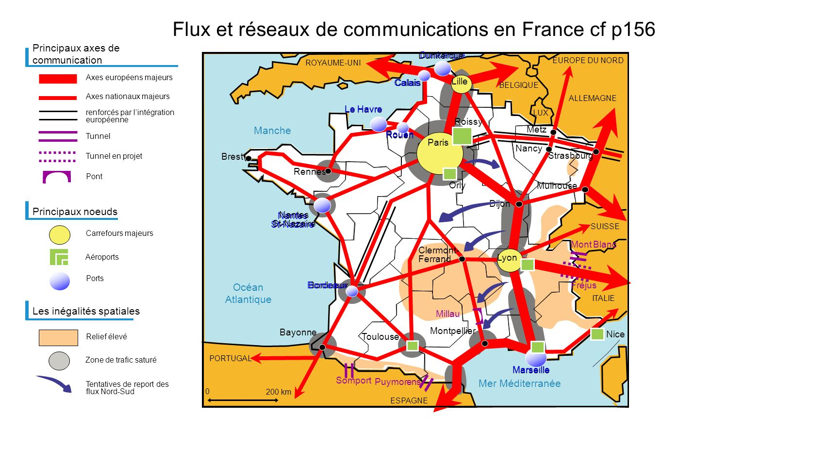 Mer Méditerranée Manche Océan Atlantique Horizon 2030 : nouvelles priorités après le «Grenelle Environnement» cf p157 Priorité affirmée aux infrastructures ferroviaires...