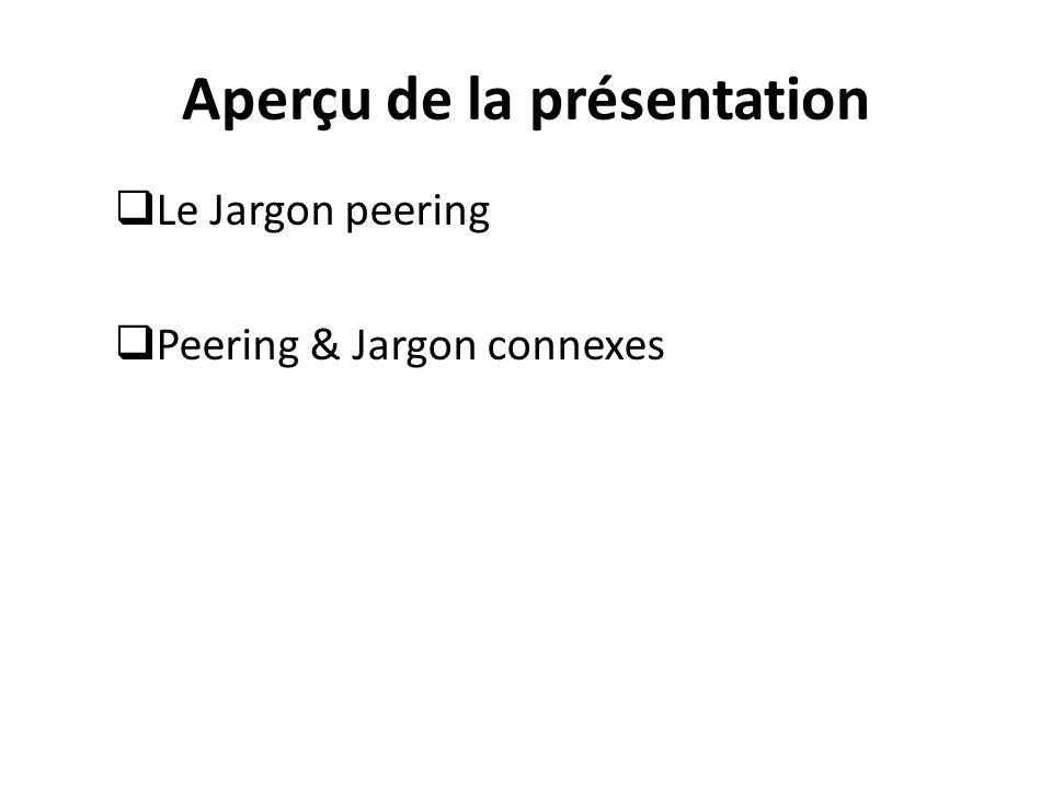 LE JARGON PEERING
