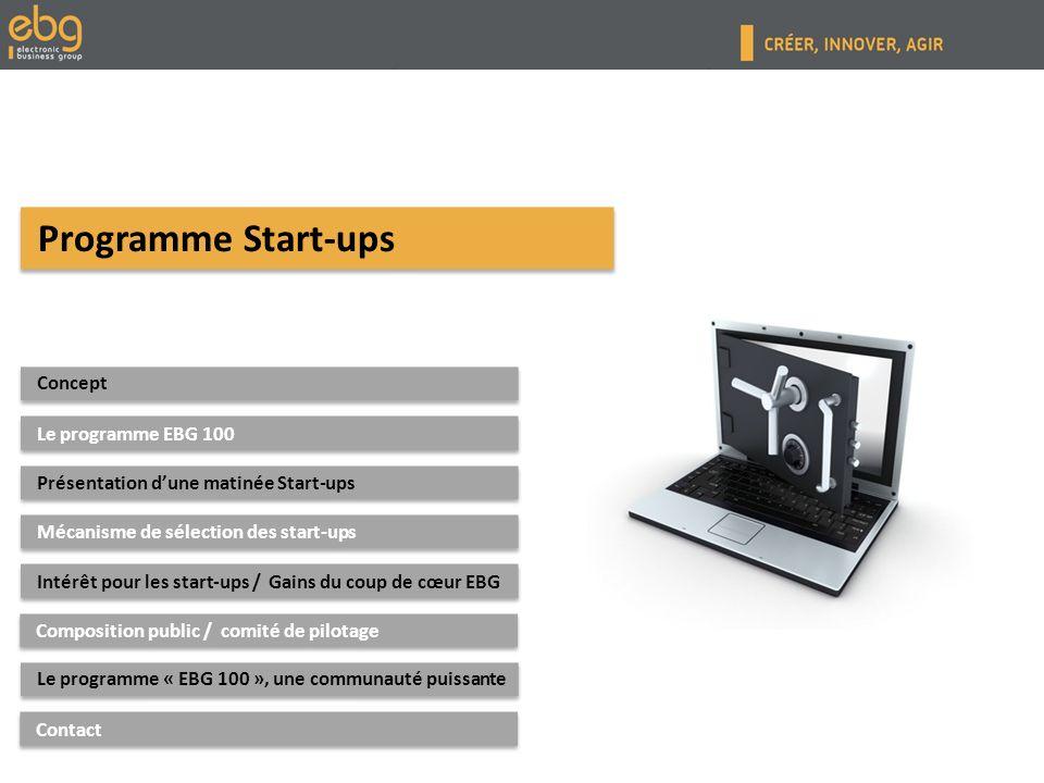 Concept de la commission Concept de la commission : « Les Start-ups parlent aux Grands Groupes »