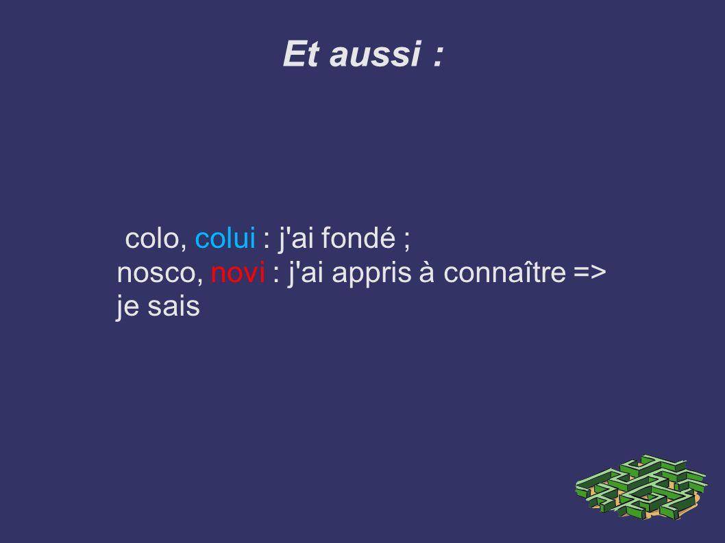 2- le parfait en -s : pour la 3ème conjugaison Le radical finit par une consonne : – C + S = X dico>Dixi, j ai dit duco>duxi, j ai mené – T+ S = S : mitto> Misi, j ai envoyé