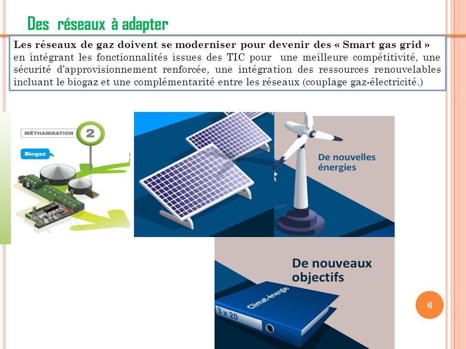 7 Les smart gas grids : briques constitutives des smart networks Les réseaux de gaz intelligents Une clé pour loptimisation des infrastructures territoriales