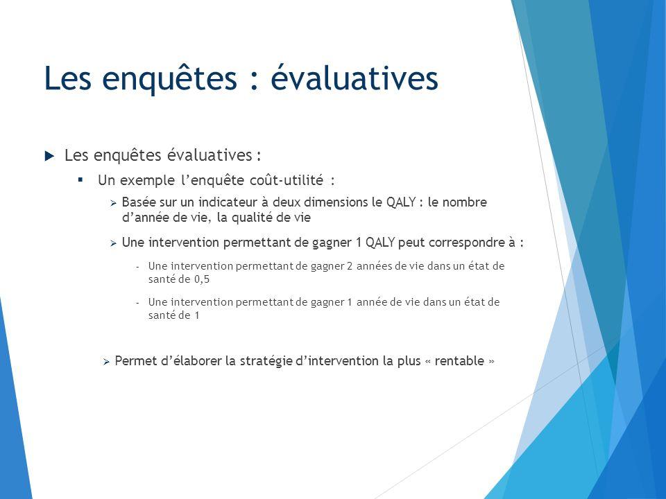 Lecture des enquêtes : La notion de biais : Sélection Classement Confusion Les résultats : Le degré de significativité « p » et lIC à 95% L OR et le RR Les enquêtes