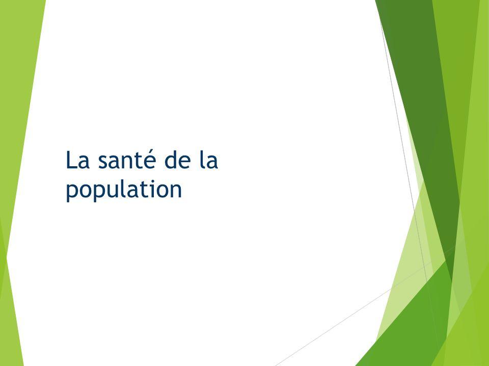 La transition démographique Évolution de l état de santé Source : INSEE