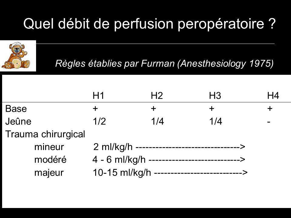 Quel débit de perfusion peropératoire .