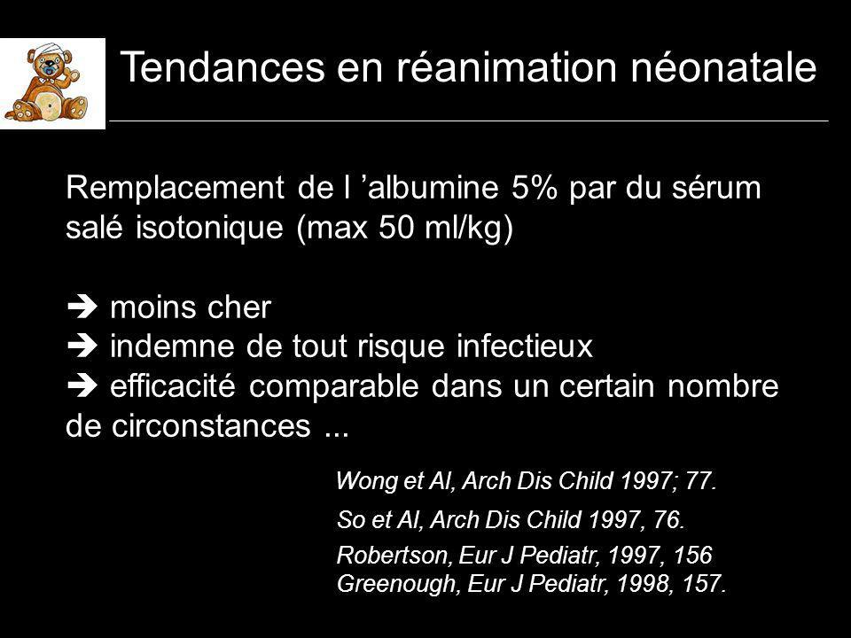 Solutés de remplissage En priorité le sérum salé isotonique les gélatines lalbumine, à faible concentration (au plus 5%) les HEA, ce d autant que PM faible (200), taux de substitution bas ( 0.5 - 0.6) en respectant les limites de volume (?) les contre indications (hémostase,sepsis??)