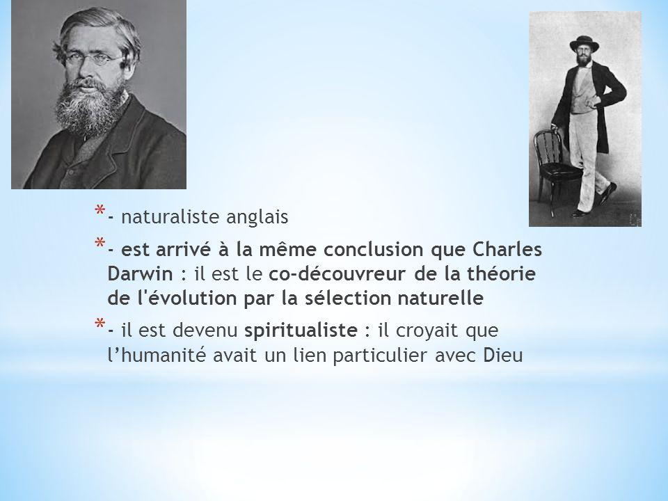 * - naturaliste français, un des premiers à avoir contesté publiquement que les formes de vie ne changent pas * - a noté les ressemblances entre les humains et les singes * - il pourrait y avoir un ancêtre commun, ce qui suggère que les espèces changent avec le temps