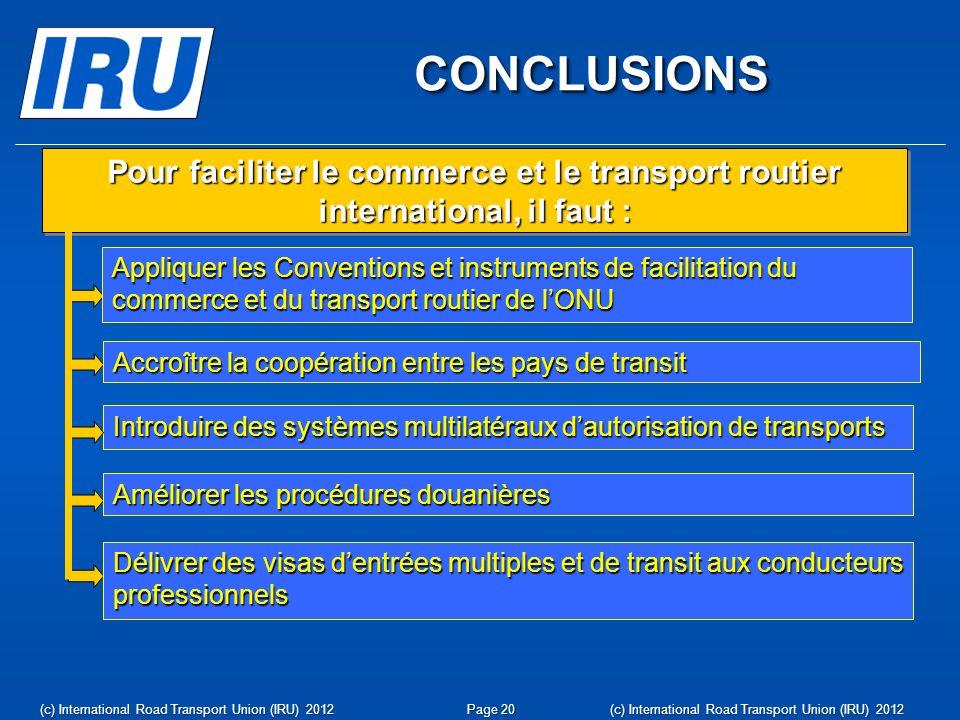 www.iru.org (c) International Road Transport Union (IRU) 2012Page 21