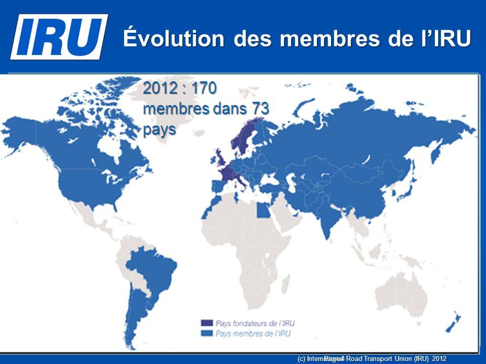 Page 5 22 pays Membres CRIPA 6 nouveaux pays potentiels CRIPA (c) Union Internationale des Transports Routiers (IRU) 2012 Zoom sur lAfrique