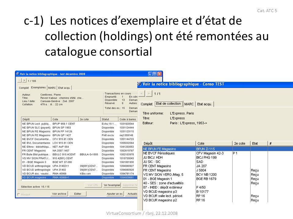 36 c-2) Préfixes et ordre d affichage des notices dexemplaire et d état de collection Les dépôts sont regroupées par des préfixes correspondant aux institutions (= sites): FR…; GE…; IF… (« Instiution fédérale », par ex.