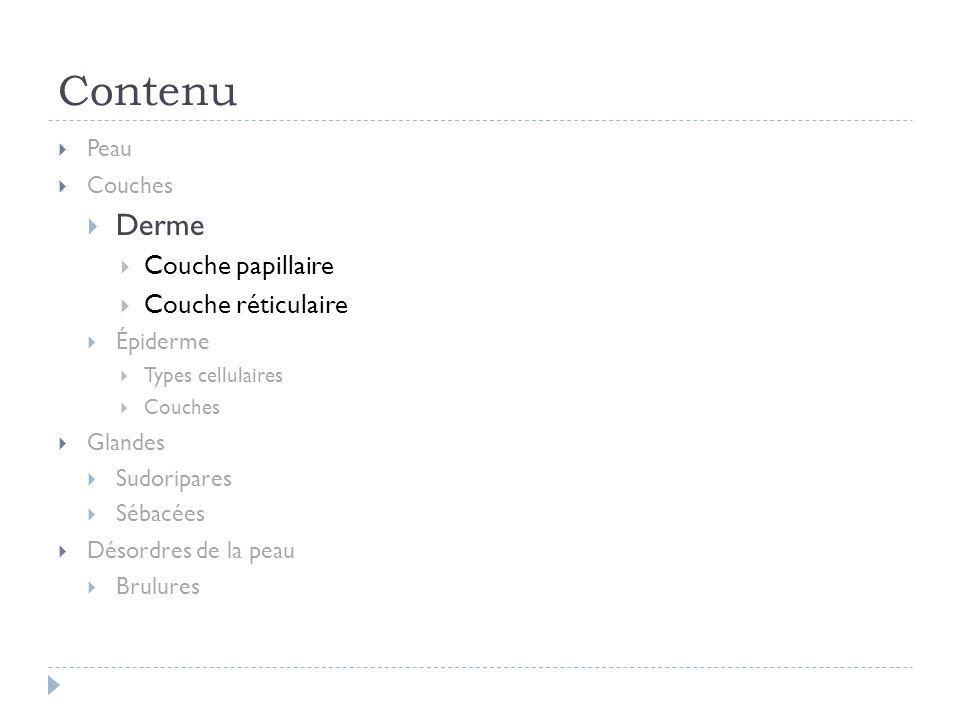 Derme déchirure http://www.nadi.ch/index.php?id=12,8,3 Friction/brulure