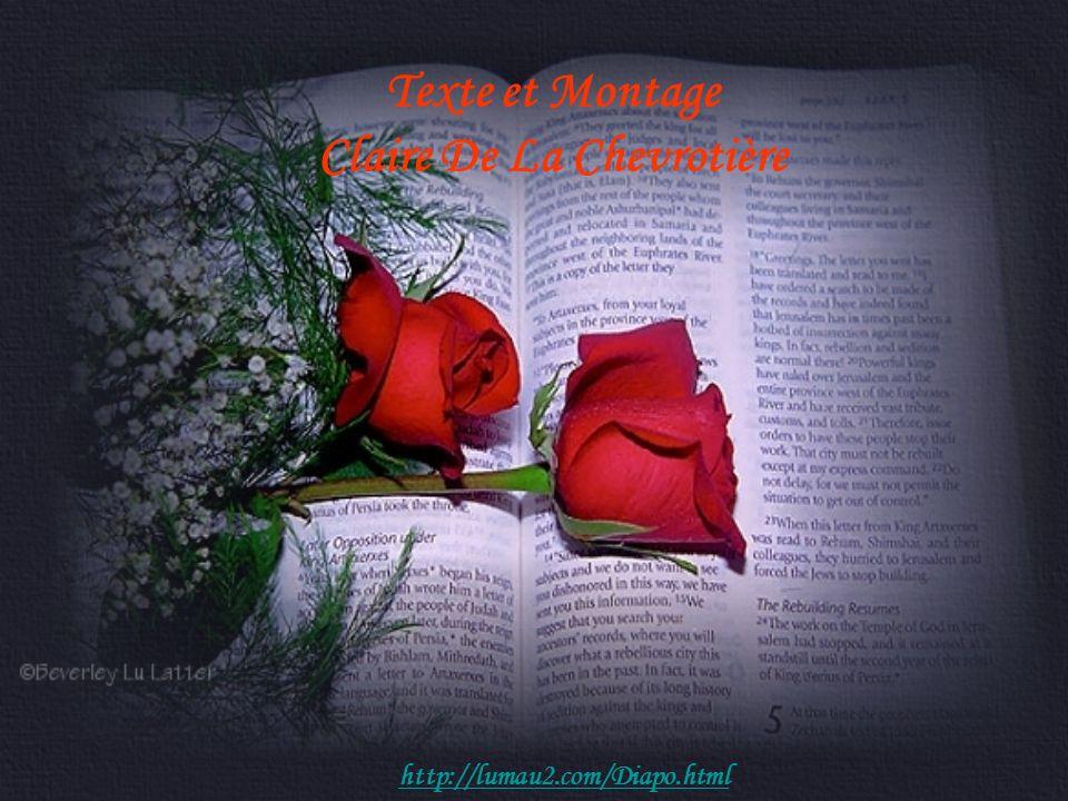 Texte et Montage Claire De La Chevrotière http://lumau2.com/Diapo.html
