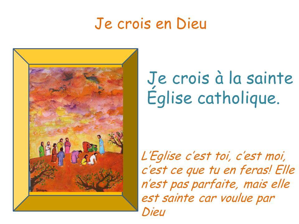 Je crois à la communion des saints.Je crois en Dieu Nous sommes tous solidaires.
