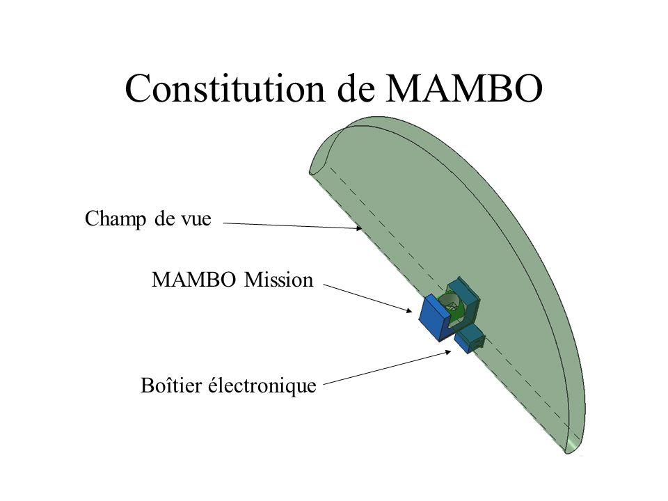Constitution de MAMBO MAMBO Mission Boîtier électronique Champ de vue