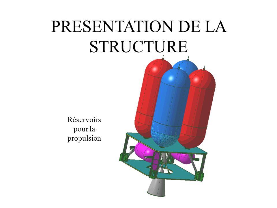 PRESENTATION DE LA STRUCTURE Réservoirs pour la propulsion
