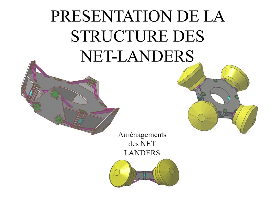 PRESENTATION DE LA STRUCTURE DES NET-LANDERS Aménagements des NET LANDERS