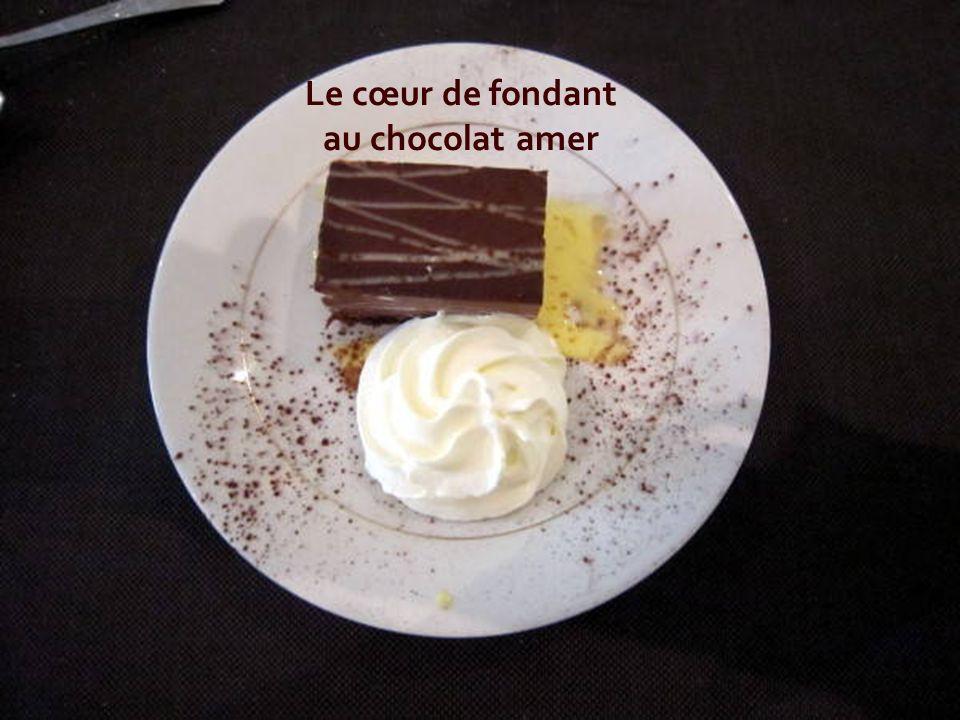 Le cœur de fondant au chocolat amer