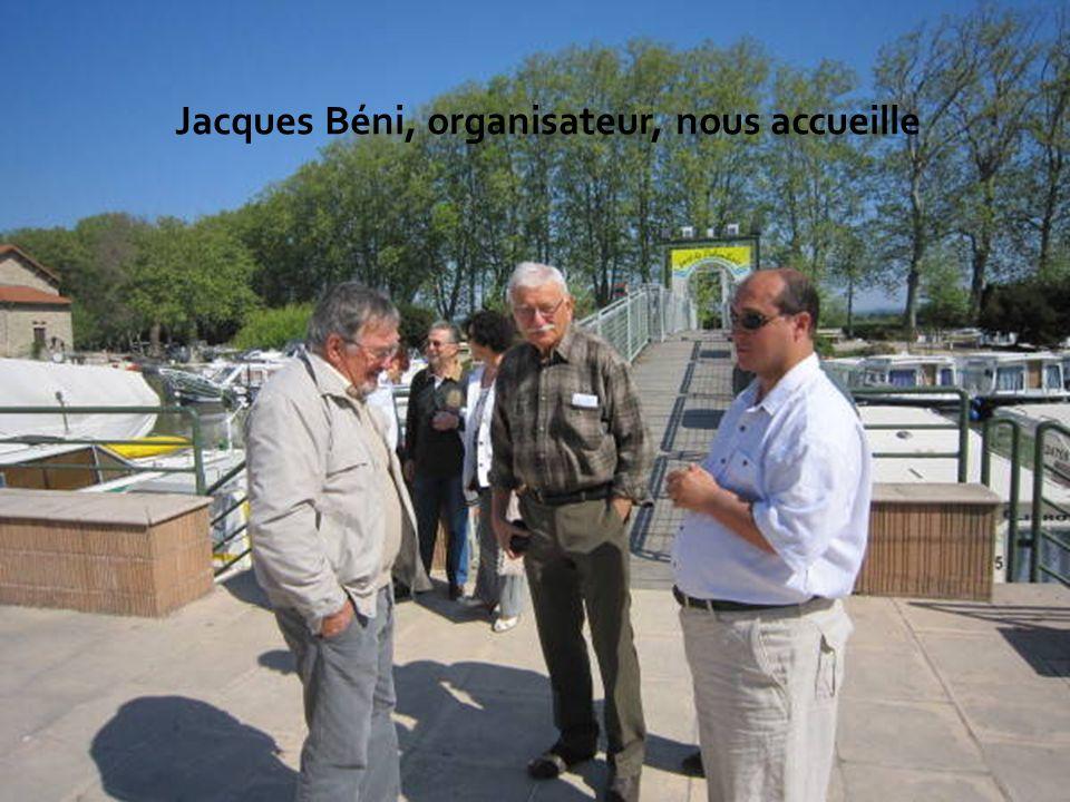 Jacques Béni, organisateur, nous accueille