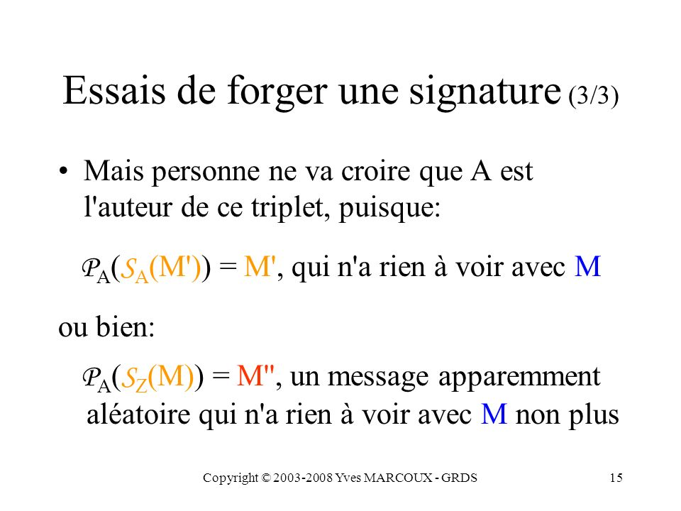 Copyright © 2003-2008 Yves MARCOUX - GRDS16 Comment gérer les paires de clés.