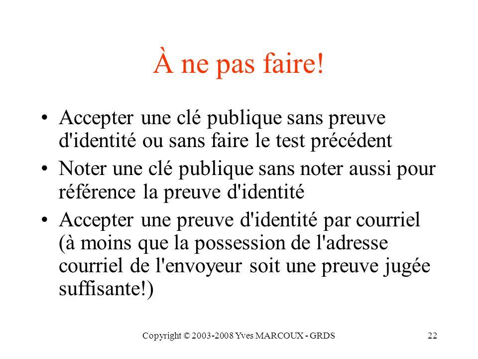 Copyright © 2003-2008 Yves MARCOUX - GRDS23 Rentabiliser les rencontres...
