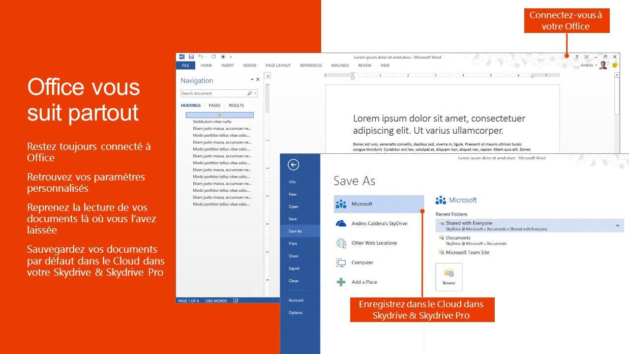 Exemple de développement : Lapplication Bing Maps dans Excel localise dans une carte les adresses sélectionnées Exemple de développement : Lapplication Bing Maps détecte les adresses dans vos emails et propose la carte associée Fonctionne conjointement sur Office et Office Web Apps