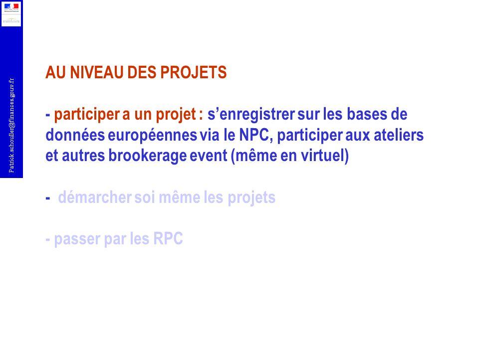 Patrick.schouller@finances.gouv.fr Des offres demandes de partenariats offres de compétences http://ec.europa.eu/information_society/events/cf/bud11/item-display.cfm?id=5426