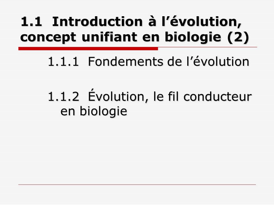 1.2 Élaboration de la théorie de lévolution (4) 1.2.1 Théorie sur lévolution de Darwin.