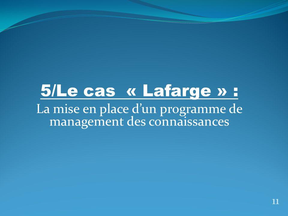 1/Présentation de lentreprise « Lafarge » 12 crée par la famille Pavin de Lafarge en 1833 Était tournée vers la fabrication du ciment, Située au Teil, dans le sud de la France.