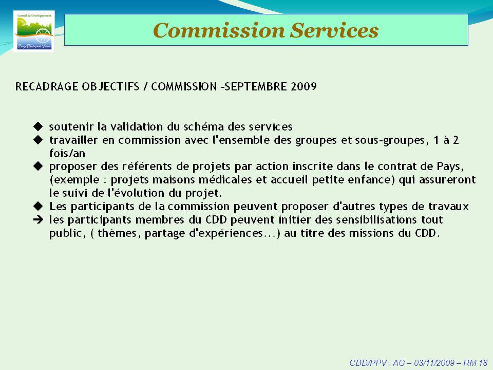 CDD/PPV - AG – 03/11/2009 – RM 19 Commission A-21 => Environnement (Cf. exposé ME. Chassagne)