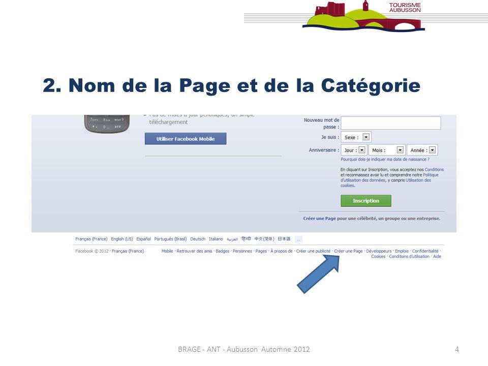 BRAGE - ANT - Aubusson Automne 20125 Sélectionner maintenant la catégorie de votre établissement