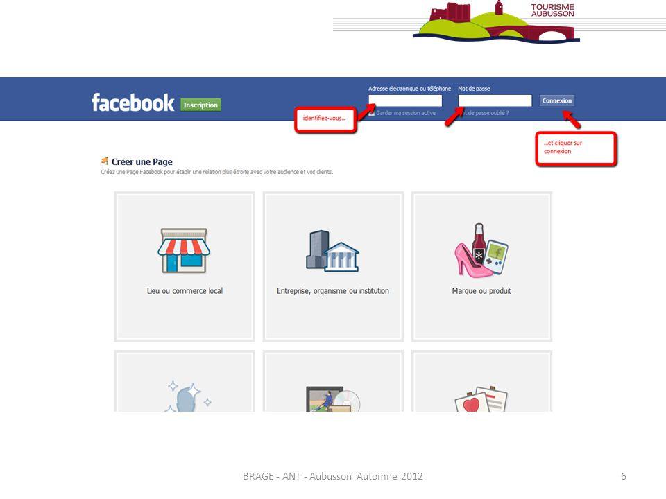 7 Le Nom choisi pour votre Page sera définitif, vous ne pourrez en aucun cas le modifier.