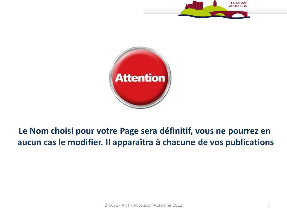 BRAGE - ANT - Aubusson Automne 20128 3. Remplir sa Fiche