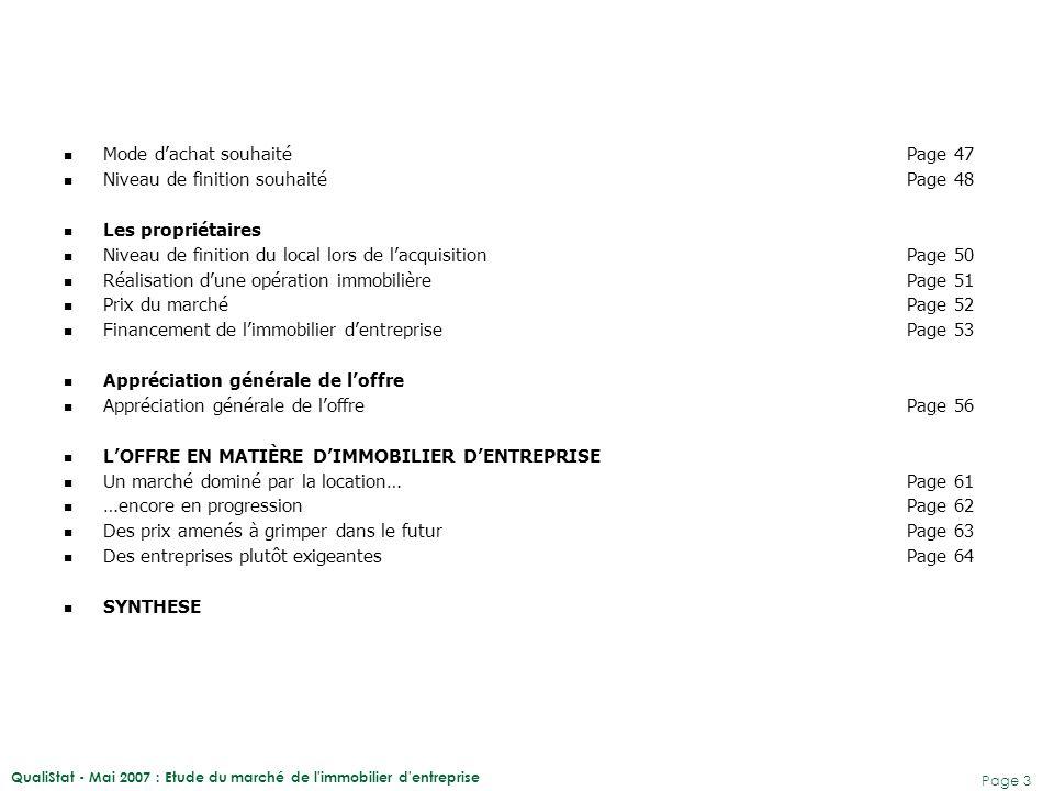 QualiStat - Mai 2007 : Etude du marché de l immobilier d entreprise Page 4 Le présent document expose les résultats de l'étude du marché guadeloupéen de l'immobilier d'entreprise menée par QualiStat pour le compte de la CCI de Pointe à Pitre.