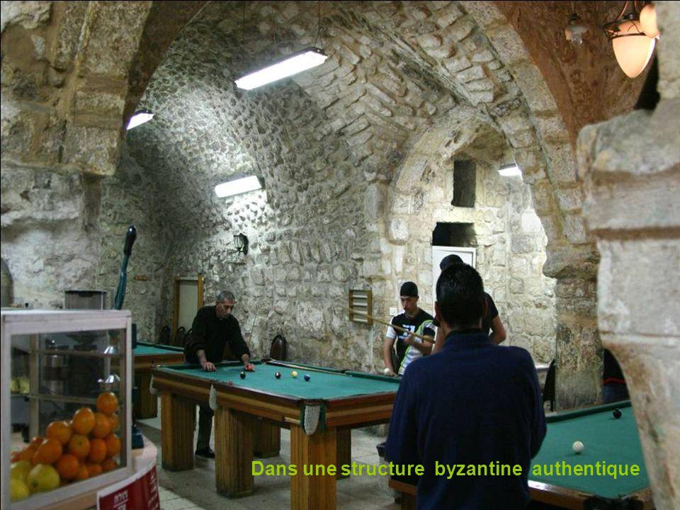 Dans une structure byzantine authentique
