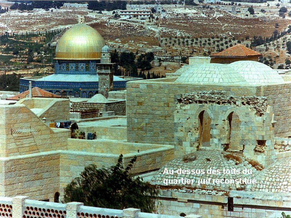 Au-dessus des toits du quartier juif reconstitué