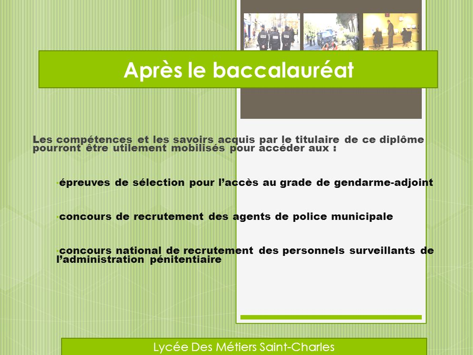 BTS Hygiène, propreté, environnement DUT Hygiène, sécurité, environnement Après le baccalauréat Lycée Des Métiers Saint-Charles