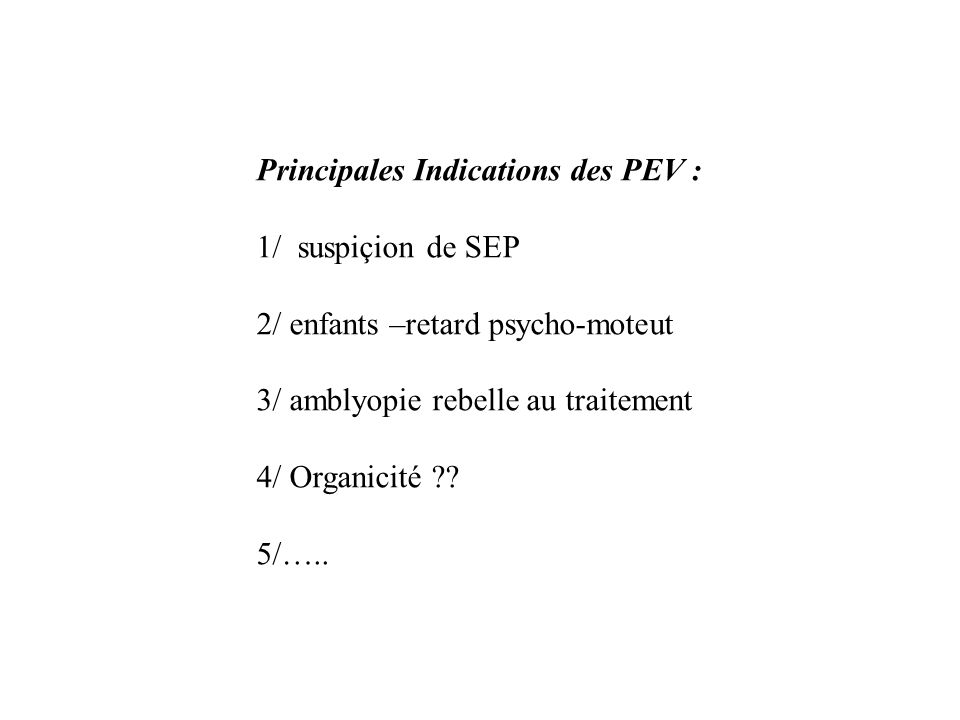 PEV et diagnostic de SEP Article Jones, 2003