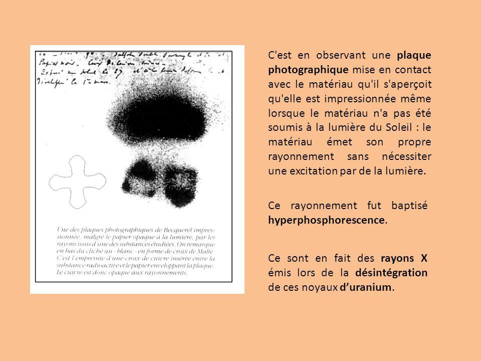 Pierre et Marie Curie A quelques centaines de mètres du Jardin des Plantes où travaille Becquerel, une jeune polonaise, Marie Sklodowska vient dépouser Pierre Curie, alors chef des travaux de l Ecole de Physique et de Chimie de Paris.