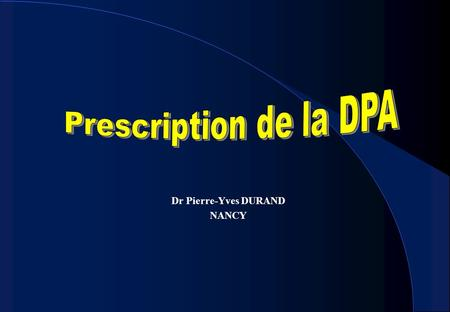 Dr Pierre-Yves DURAND NANCY