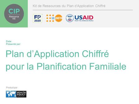 Plan d'Application Chiffré pour la Planification Familiale