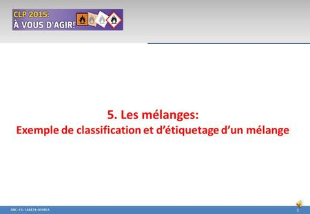 Exemple de classification et d'étiquetage d'un mélange