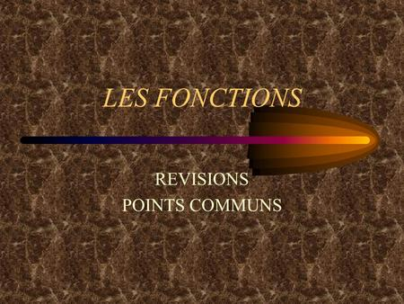 REVISIONS POINTS COMMUNS
