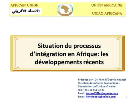 AFRICAN UNION UNION AFRICAINE