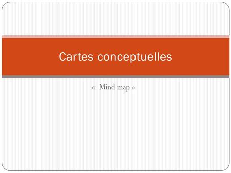 Cartes conceptuelles «  Mind map ».