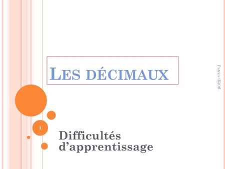 Difficultés d'apprentissage