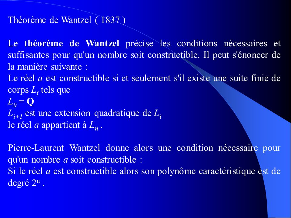 Il faudra attendre jusqu en 1882 pour que le mathématicien allemand Ferdinand von Lindemann démontre la transcendance de pi.