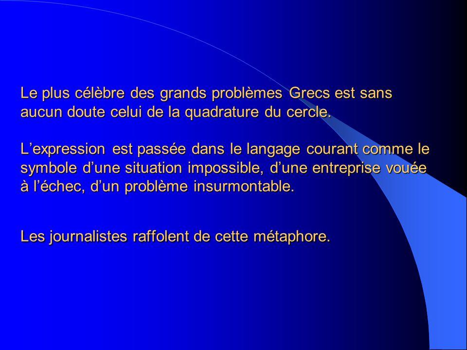 Le Figaro, 23 mars 2006. l équation, pour Dominique de Villepin, tient de la quadrature du cercle.