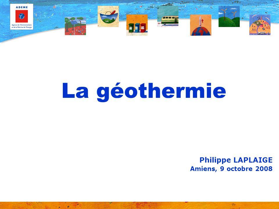 SOMMAIRE La géothermie Rappel de quelques définitions de base Description des différentes filières La production délectricité La production de chaleur Développement de la géothermie – Objectifs et mesures daccompagnement